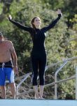 Celebrities practice their dives for the upcoming ABC show 'Splash'