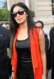 Nicole Scherzinger outside the Langham hotel