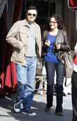 Actor Seth MacFarlane and a friend leave a...