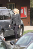 Gwen Stefani and son Zuma Rossdale are seen on a school run