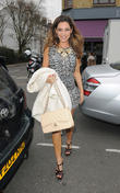 Kelly Brook arriving at the Riverside Studios.