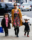 Myleene Klass, Ava Quinn and Hero Quinn