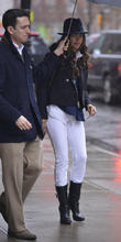 Camila Alves out with her children on a...