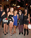 Celebrities outside Bootsy Bellows nightclub in West Hollywood