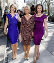 Charlotte Hawkins, Jacquie Beltrao and Guest