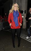 Carrie Underwood leaving the BBC Radio 2 studios