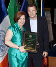 Christine Quinn and Liam Neeson