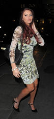 Amy Childs Arriving At The May Fair Hotel