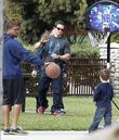 Mark Wahlberg and his son Brendan  spend the day at Coldwater Canyon Park