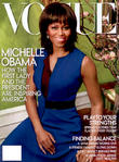 US First Lady Michelle Obama appears on the April 2013 cover of Vogue Magazine