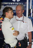 Sebastian Vettel and Dr.helmut Marko