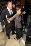 Halle Berry arrives at LAX airport with her fiance Olivier Martinez and her daughter Nahla Aubry