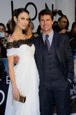 Olga Kurylenko and Tom Cruise