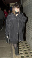 dawn french leaving the groucho club 070413
