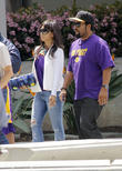 celebrities arrive to watch the los angeles lakers 070413