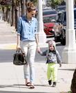 Supermodel Miranda Kerr takes her son Flynn on a playdate in West Hollywood