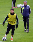 real madrid football players training at inonu stad 080413