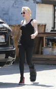 Rose McGowan in a walking cast