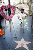 Flowers placed on Annette Funicello's Hollywood Walk of Fame star