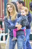 Jessica Alba, Haven Warren, Cash Warren, coldwater canyon park
