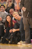 celebrities attend the los angeles lakers vs san an 140413