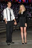 Mira Sorvino and Christopher Backus