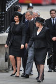 Tony Blair, wife Cherie Booth, John Major and wife Norma