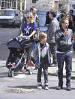 Kate Hudson, Matthew Bellamy, Bingham Bellamy and Ryder Robinson