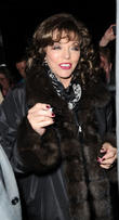 joan collins greets fans as she leaves the lowry th 210413