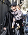 David Beckham and Harper Beckham