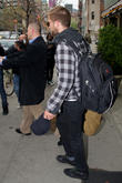 robert pattinson is seen leaving his downtown manha 230413