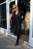 Kate Moss visits Relik vintage clothing in Notting Hill