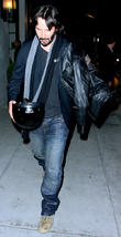Keanu Reeves leaves Spargo restaurant