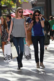 Emily VanCamp goes shopping at The Grove in Hollywood