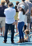 Jennifer Garner, Seraphina Affleck and Ben Affleck