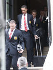 Wayne Rooney, Rio Ferdinand and Anders Lindegaard