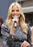 Heidi Klum promotes 'Clear' hair products at The Grove
