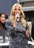 Heidi Klum promotes 'Clear' hair products at The Gr
