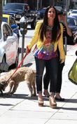 kyle richards walking the dog 020513