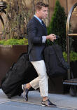 lance bass leaves his manhattan hotel 020513