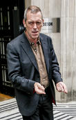 hugh laurie outside the bbc radio 2 studios 070513