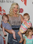 Tori Spelling, Finn Davey McDermott and Hattie Margaret McDermott