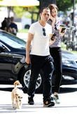 giovanni ribisi and his wife agyness deyn seen walk 100513