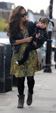 myleene klass and her daughter hero out and about 140513