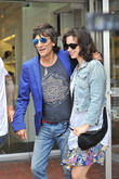 ronnie wood and wife sally humphreys seen leaving f 160513