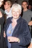 judi dench leaving noel coward theatre 200513