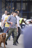 andrew garfield walks his dog with tom sturridge in 220513