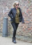 Denise van Outen goes for a walk alone around Hampstead