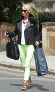 Denise Van Outen leaving her North London home
