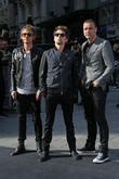Dominic Howard, Matthew Bellamy and Chris Wolstenholme of Muse